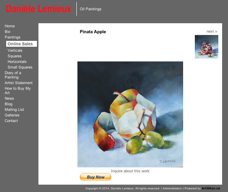 Pinata Apple by Danièle Lemieux - Online Sales