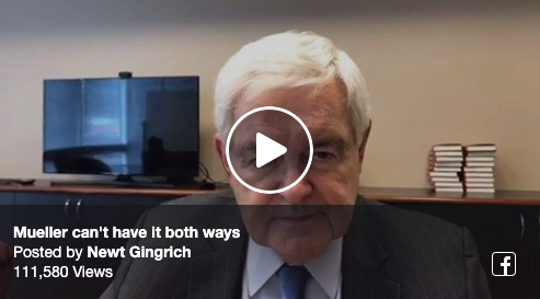 Newt Live - Mueller Can't Have it both ways
