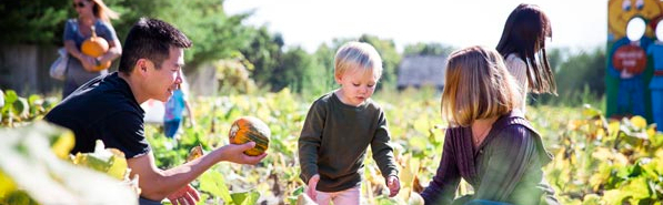Family in pumpkin patch - Invest with Values for Positive Change