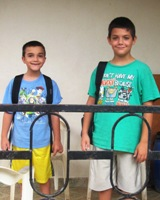 First day of School for Joshua and Jonah