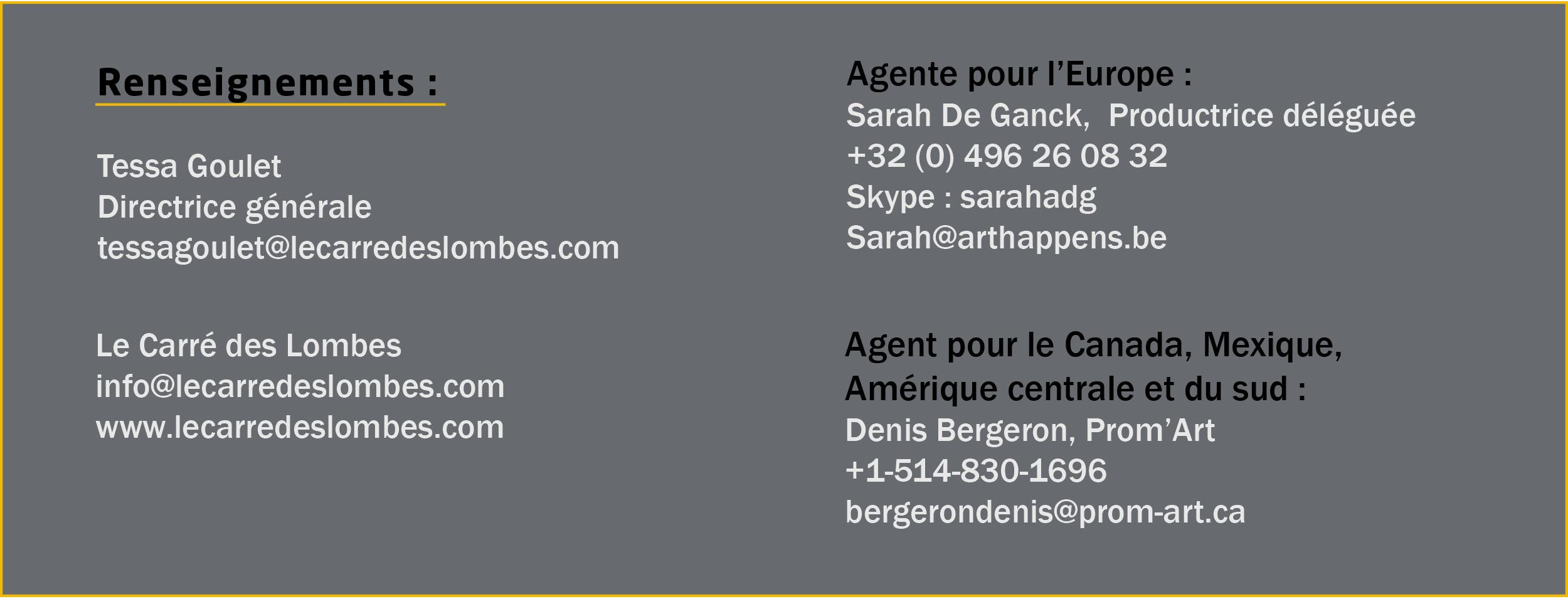 Contact Le Carré des Lombes