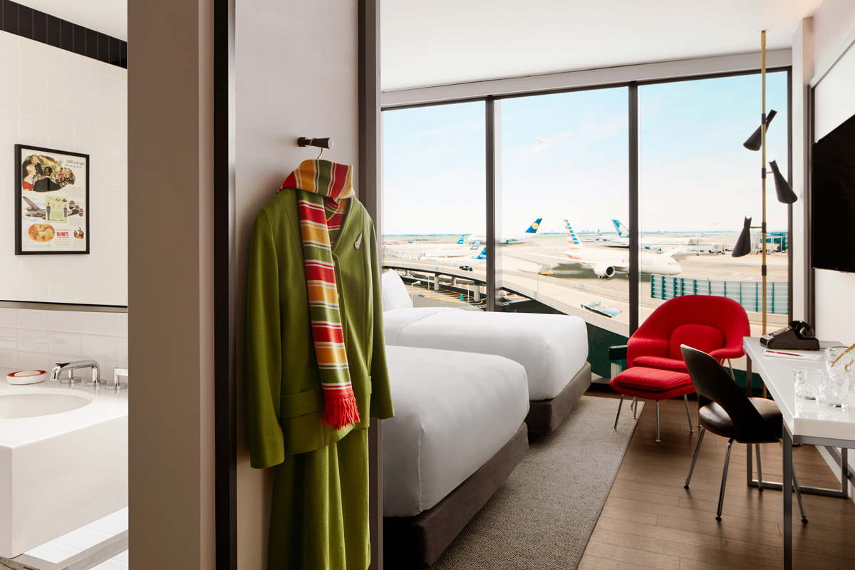 Guestrooms at the TWA Hotel have the second-thickest glass in the world.