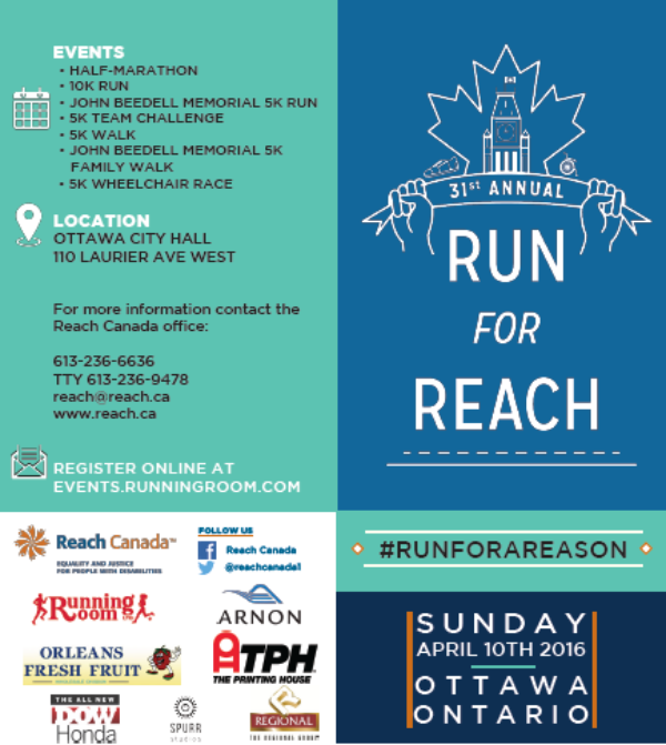 2016 Run for Reach. For more information about race categories go to events.runningroom.ca  #runforareason