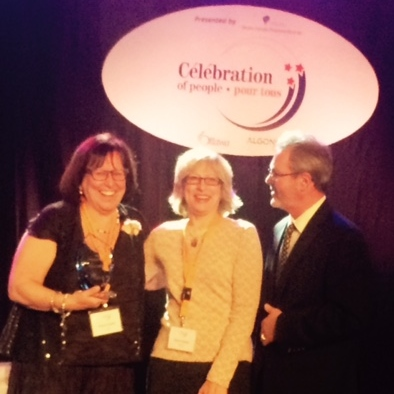 Paula Agulnik, Joanne Silkauskas and Timothy Andrade, on stage at the Celebration of People