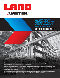 Infrared Process Imaging Systems for Vertical Continuous Annealing Lines Application Note