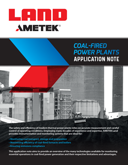 Coal-Fired Power Plants Application Note