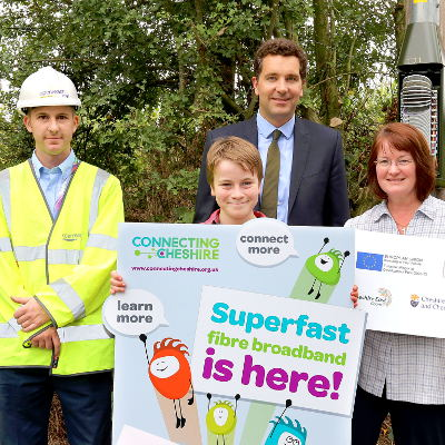 Broadband switch-on at Hunsterson