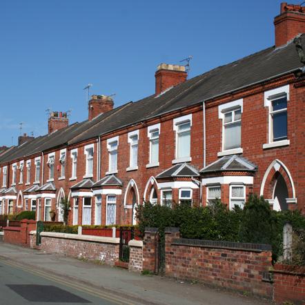 Terraced houses, Copyright 'Espresso Addict'