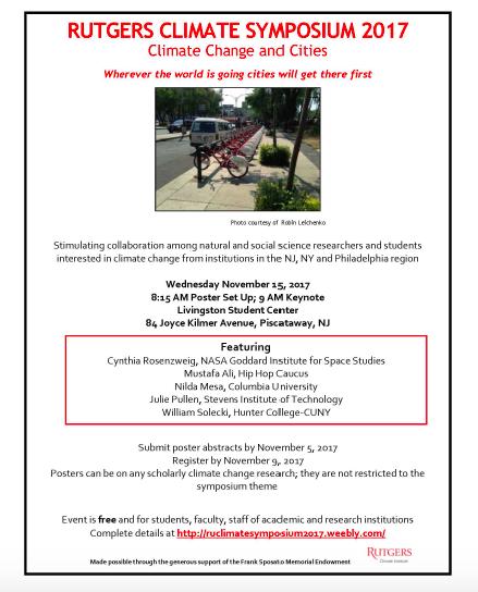 Rutgers Climate Symposium 2017