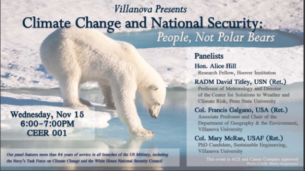 Villanova presents Climate Change and National Security
