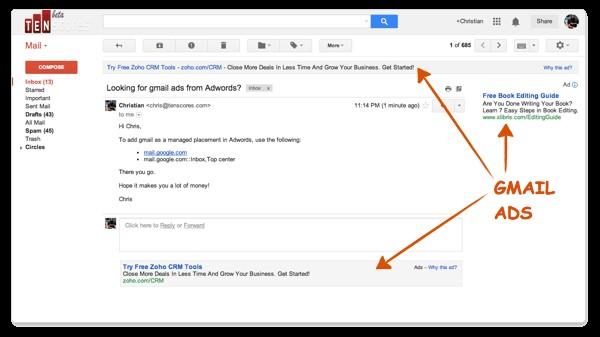 GSP Ads Inbox Example