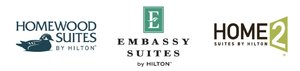 Choose Embassy Suites, Homewood Suites, or Home2 Suites by Hilton
