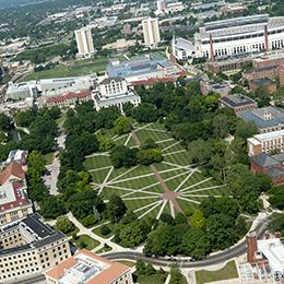 Columbus Campus ariel view