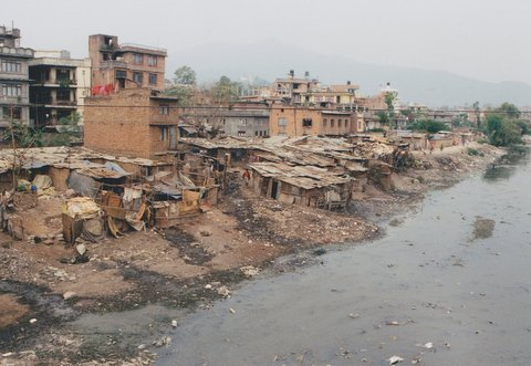 Photo of the slums of Kathmandu linking to the Department of Sociology