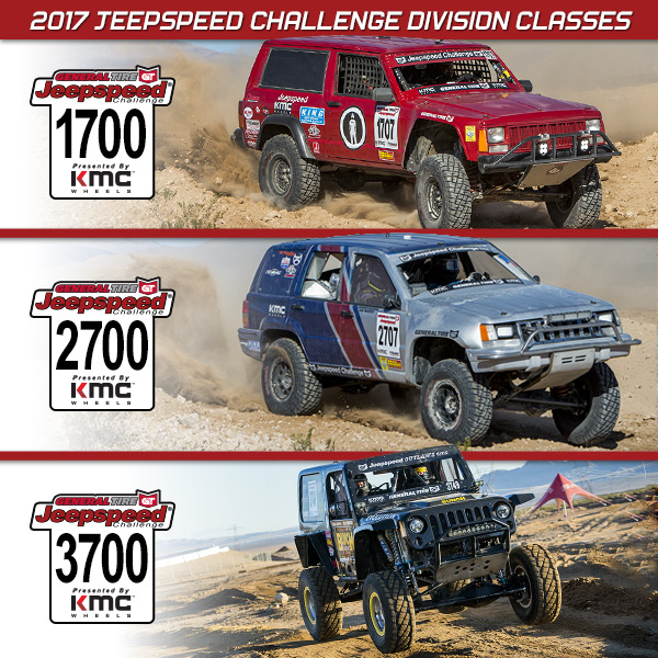 Jeepspeed Division Classes, General Tire, KMC Wheels