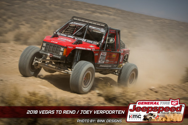 Joey Verpoorten, Jeepspeed, Vegas To Reno, General Tire, KMC Wheels, Bink Designs