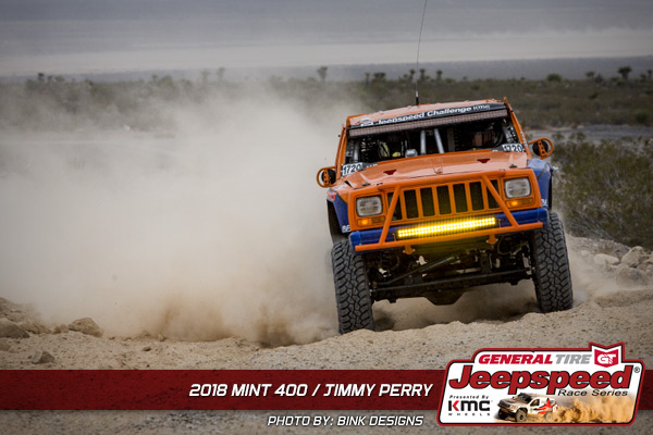 Jeepspeed, Jimmy Perry, General Tire, KMC Wheels, The Mint 400, Bink Designs