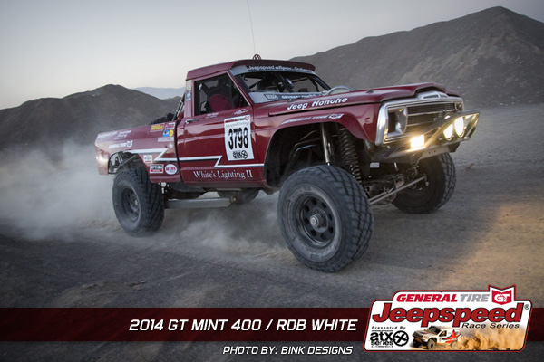 Rob White, The Mint 400, General Tire, Jeepspeed, Bink Designs, Jeep Honcho, Roger Mears