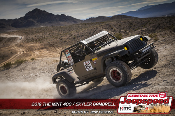 Skyler Gambrell, Jeepspeed, General Tire, KMC Wheels, Bink Designs, The Mint 400