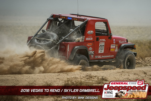Jeepspeed, Skyler Gambrell, General Tire, KMC Wheels, Vegas To Reno