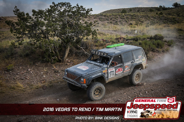 Tim Martin, Jeepspeed, Vegas To Reno, JAZ Products, General Tire, KC Hilites, Bink Designs
