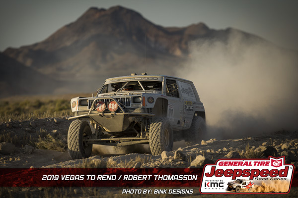 Robert Thomasson, Jeepspeed, Vegas To Reno, General Tire, KMC Wheels, Bink Designs
