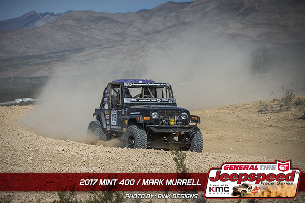 Mark Murrell, Jeepspeed, General Tire, KMC Wheels, The Mint 400, Bink Designs