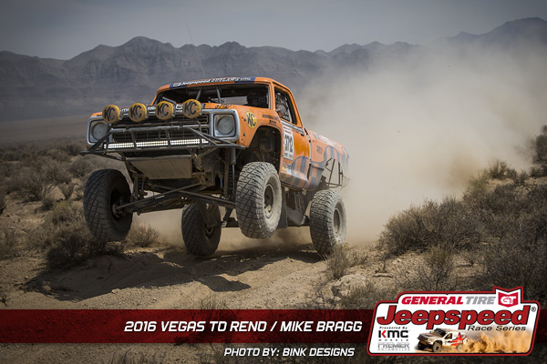 Mike Bragg, General Tire, Mopar, Jeepspeed, KMC Wheels, Bink Designs, Vegas To Reno