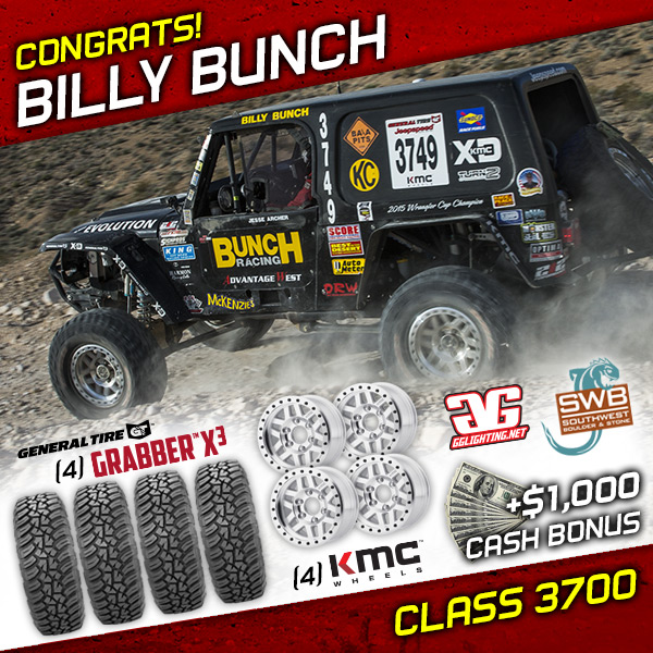 Billy Bunch, Jeepspeed, General Tire, KMC Wheels, The Mint 400, Bink Designs, King Shocks, Las Vegas