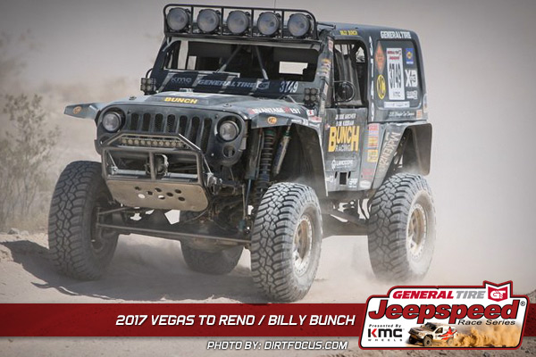 Jeepspeed, Billy Bunch, General Tire, KMC Wheels, GrabberX3, Vegas To Reno