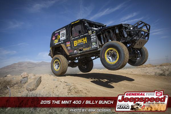 Jeepspeed, Billy Bunch, General Tire, Bink Designs