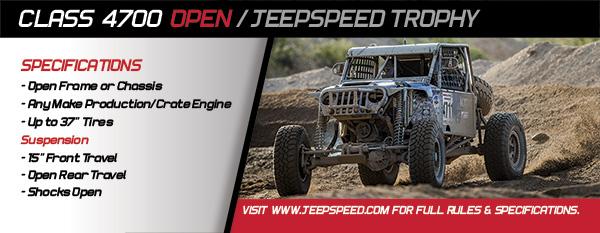 Jeepspeed, Jeepspeed Trophy, Class 4700, BITD, Ultra4