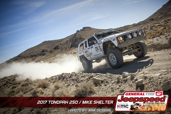 Mike Shelter, Jeepspeed, Jeep Comanche, General Tire, KMC Wheels, Bink Designs