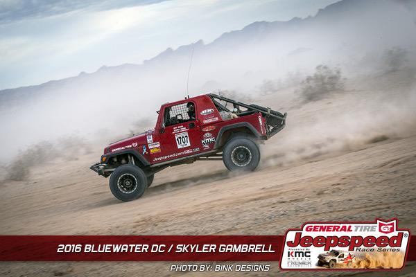 Skyler Gambrell, Jeepspeed, Jeep Wrangler, KMC Wheels, Smittybilt, General Tire, KC Hilites