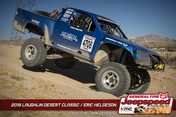 Eric Helgeson, Jeepspeed, General Tire, KMC Wheels, Bink Designs