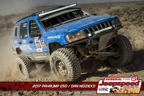 Dan Nidzieko, Jeepspeed Race Series, Best In The Desert, General Tire, KMC Wheels, Off Road, Jeep