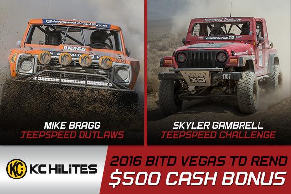 Jeepspeed, Kchilites Bonus, Vegas To Reno, Mike Bragg, Skyler Gambrell