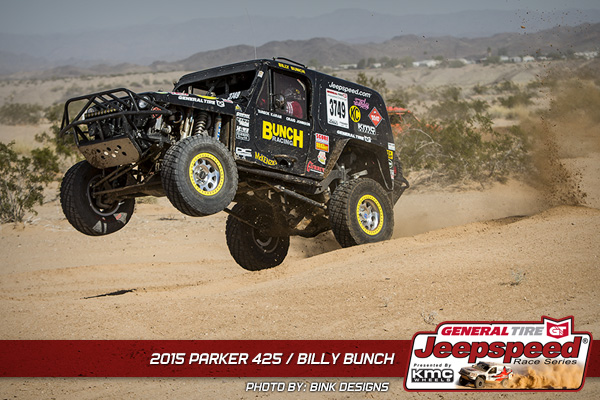 Billy Bunch, Jeepspeed, General Tire, KMC Wheels