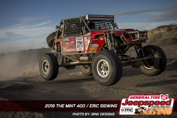 Eric Sigwing, Jeepspeed, General Tire, KMC Wheels, Bink Designs