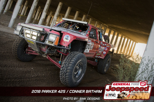 Conner Batham, Jeepspeed, General Tire, KMC Wheels, KingShocks, GG Lighting, Bink Designs