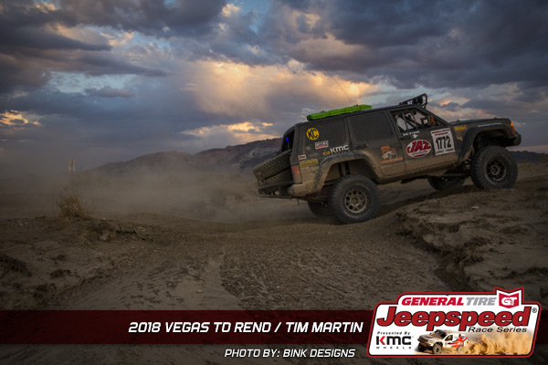 Jeepspeed, Tim Martin, Vegas To Reno, JAZ Fuel Cells, Bink Designs, KMC Wheels, General Tire