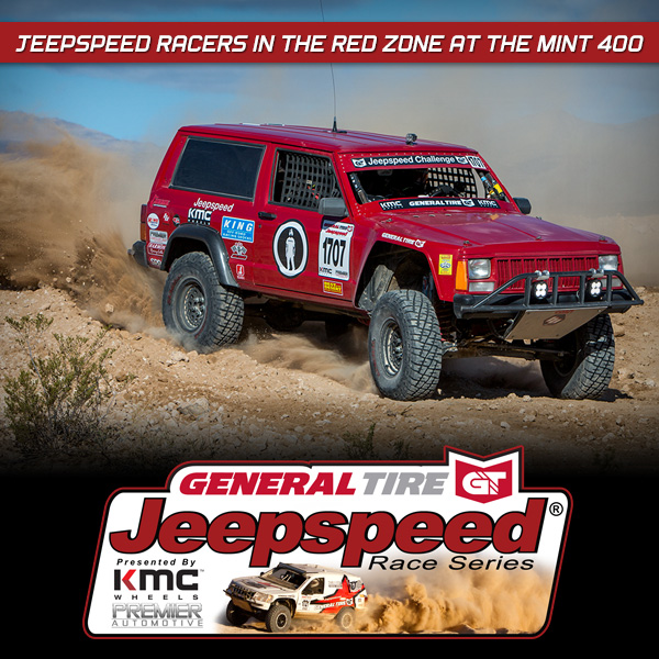 Jeepspeed Racers In The Red Zone At The Mint 400