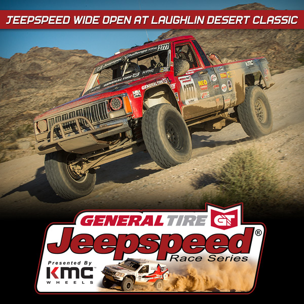 Jeepspeed Racers Run Wide Open At BITD Laughlin Desert Classic