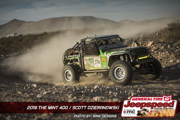 Scott Dzierzanowski, Jeepspeed, General Tire, KMC Wheels, Bink Designs