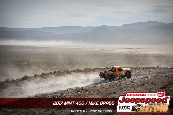 Mike Bragg, Jeepspeed, The Mint 400, General Tire, KMC Wheels, GG Lighting, Bink Designs