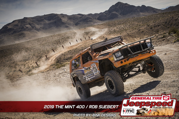 Rob Suebert, Jeepspeed, General Tire, KMC Wheels, Bink Designs, The Mint 400