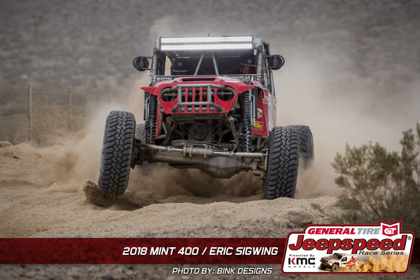 Eric Sigwing, Jeepspeed, General Tire, KMC Wheels, The Mint 400, Bink Designs