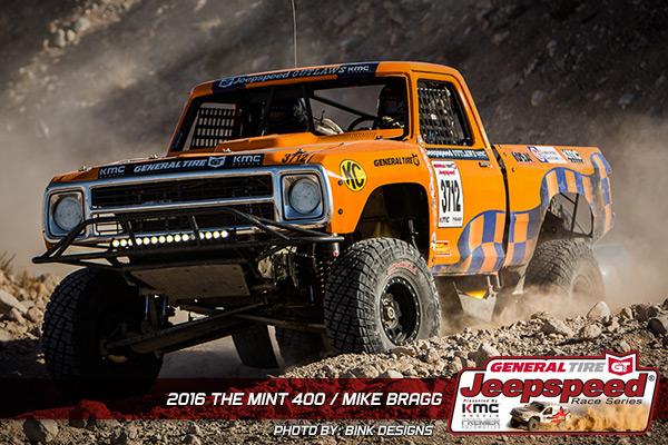 Mike Bragg, Jeepspeed, The Mint 400, Bink Designs, General Tire, KMC Wheels, Premier Automotive