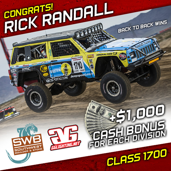 Rick Randall, Jeepspeed, General Tire, KMC Wheels, Southwest Boulder & Stone, GG Lighting