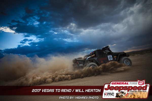Jeepspeed, Will Heaton, Vegas To Reno, General Tire, KMC Wheels, KING